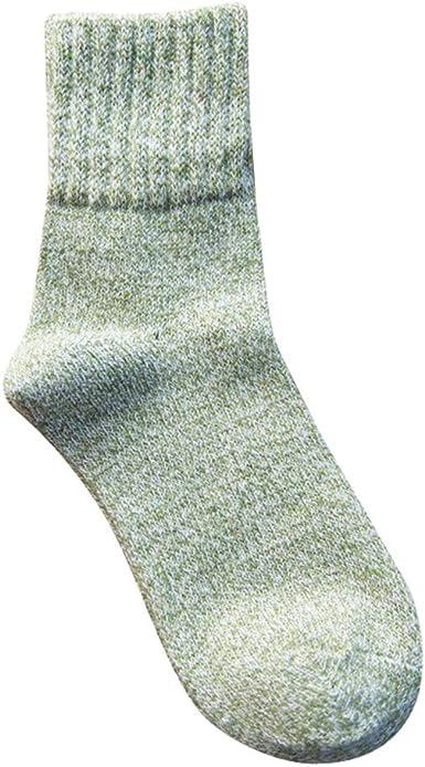 Rawdah_Calcetines Mujer Invierno Divertidos Termicos Algodon Calcetines De Otoño De La Mujer Sólido En El Tubo De Algodón Casual Calcetines Calientes Calcetines: Amazon.es: Ropa y accesorios