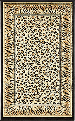 Unique Loom Safari Collection Light Brown 3 x 5 Area Rug (3' 3