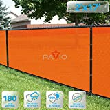PATIO Fence Privacy Screen 2' x 17', Pergola Shade Cover Canopy Sun Block, Heavy Duty Fence Privacy Netting, Commercial Grade Privacy Fencing, 180 GSM, 90% Privacy Blockage (Orange)