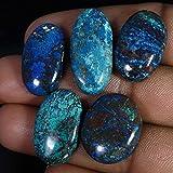 Radheygovind gems 95.55Cts100% Natural Wholesale LOT Blue Azurite 5Pcs Cab Fine Quality Gemstones