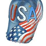 Respctful✿Unisex America Flag Hat Man and Women