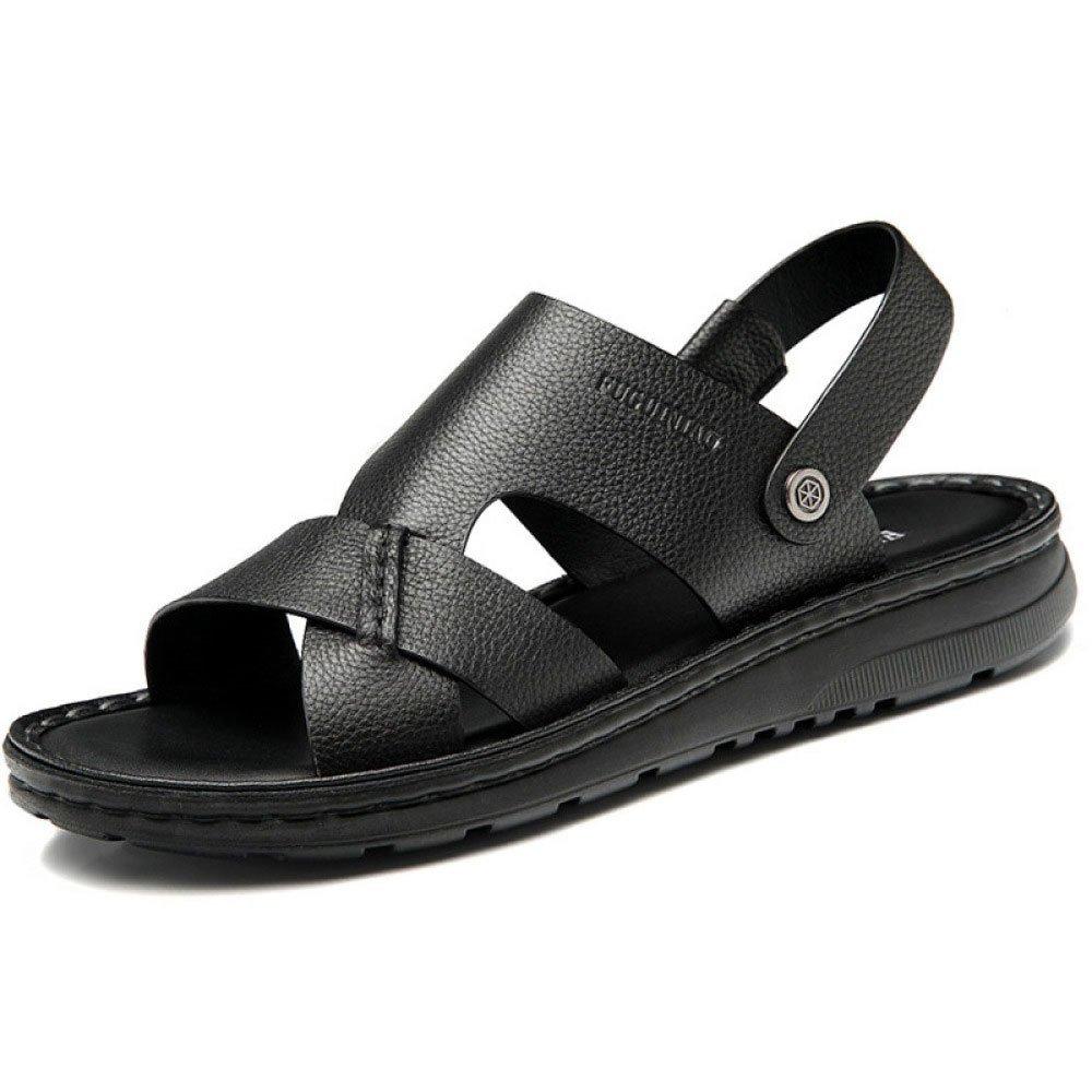 Sandalias para Hombres Zapatillas De Playa Transpirables Ocasionales Zapatillas Sandalias De Plataforma 38 EU Black