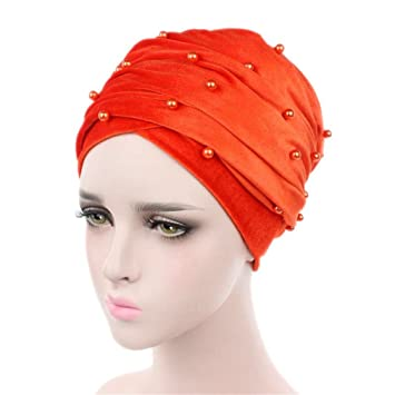Amazon.com  Long Turban Headband Beaded Studded Pearled Extra Muslim ... 21ce04144a7
