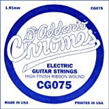 D\'Addario CG075 Flat Wound Electric Guitar Single String, .075