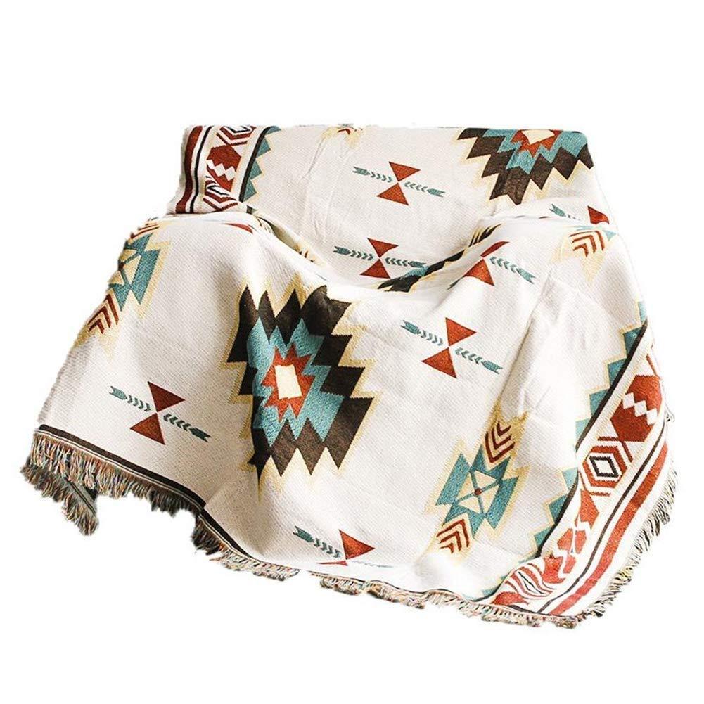 カーペット 手編みのライン毛布厚い綿カジュアルソファーエアコン毛布タオルキルト春と秋、130 * 180 cm フロアマット (サイズ さいず : 180*230CM) B07RVBQCF4  180*230CM