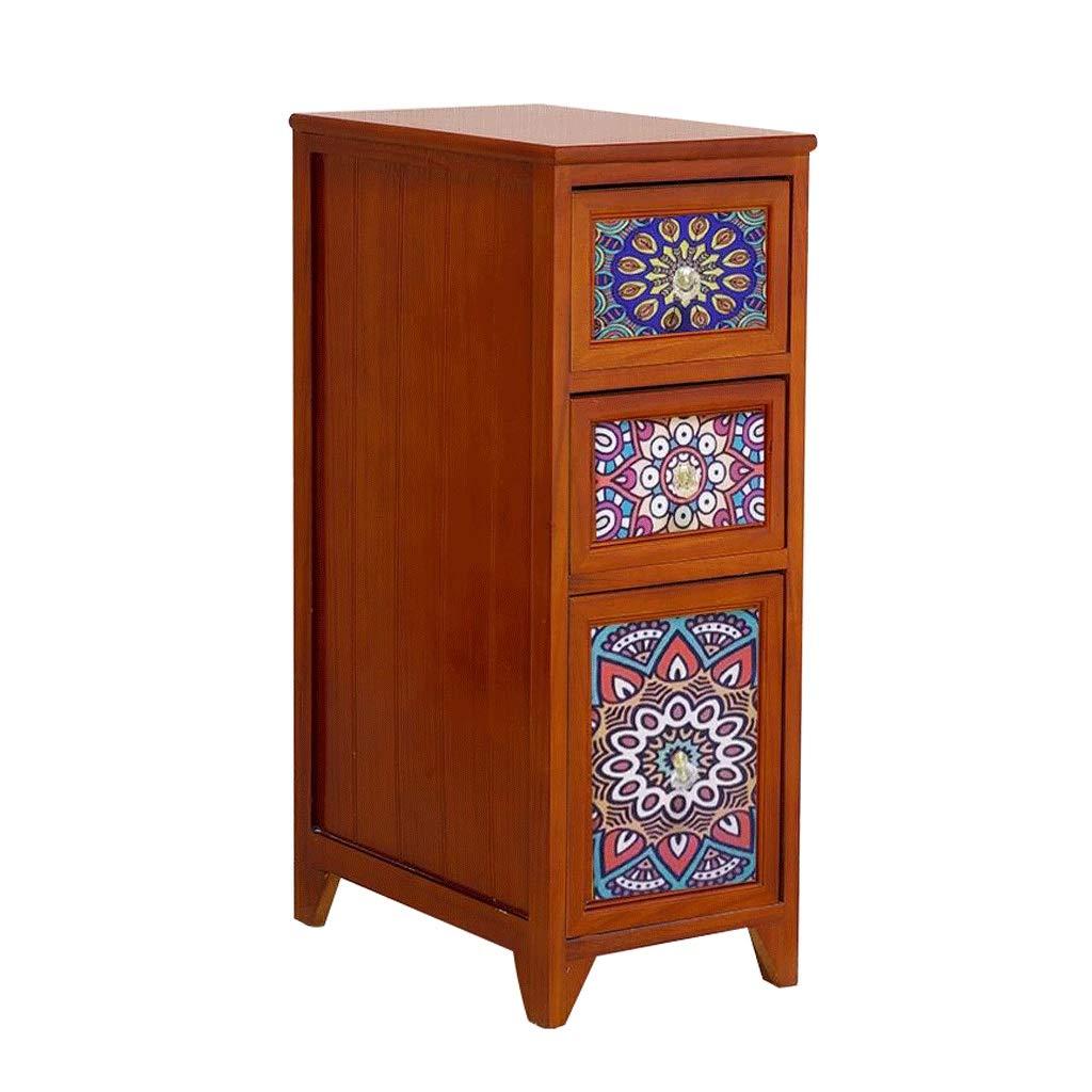 Sleeve Storage Side Cabinet 20/25cm Solid Wood Kitchen Gap Cabinet Multi-Layer Narrow Cabinet Bathroom Drawer Locker (Color : C, Size : L-20CM)