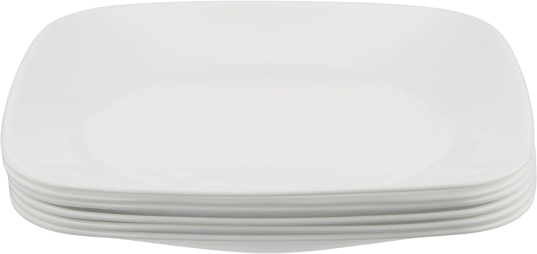 | Corelle Square Pure White 1-Quart Bowl Set (2-Piece): Dinnerware Sets