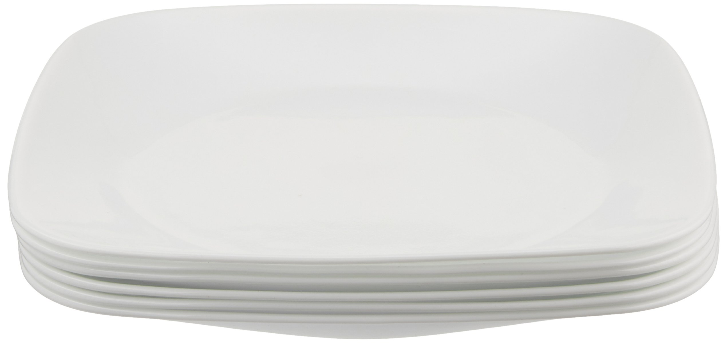 Corelle Square Pure White 9-Inch Plate Set (6-Piece) by Corelle