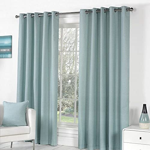 Fusion Pair of Sorbonne Plain Solid Window Curtain Panel