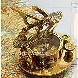 Nauticalmart 5 Inch Functional Round Brass Sundial