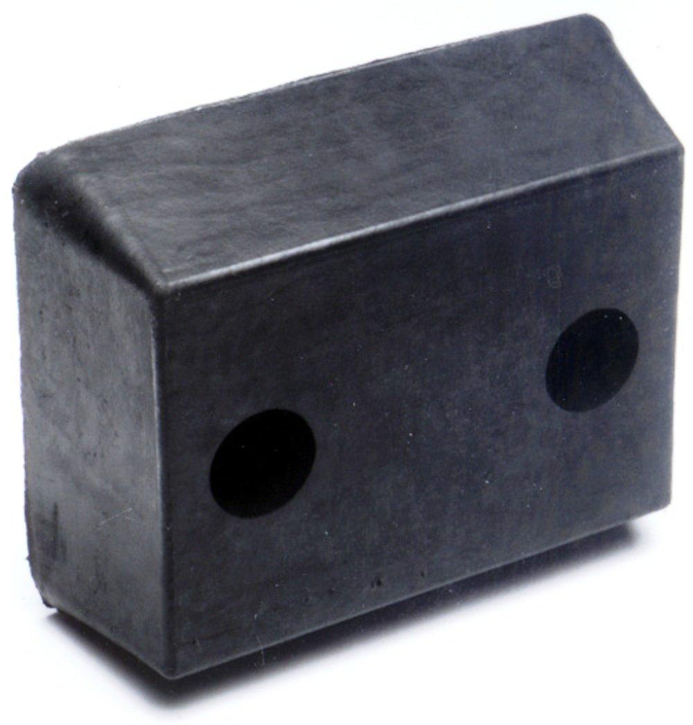 Durable Corporation Rubber Molded Bumper, Rectangular, Horizontal Mount, 2 Holes, 13'' Length, 10'' Width, 4-1/2'' Depth