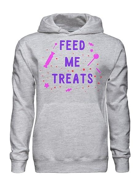 graphke Feed Me Treats Cute Pink Candy Funny Sudadera con Capucha para Hombre XX-Large: Amazon.es: Ropa y accesorios