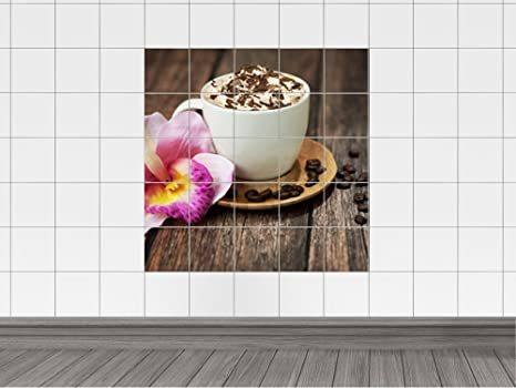 Piastrelle adesivo piastrelle stampa su latte caffè con panna