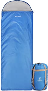 REDCAMP Ultra Lightweight Sleeping Bag for Backpacking, Comfort for Adults Warm Weather, with Compression Sack