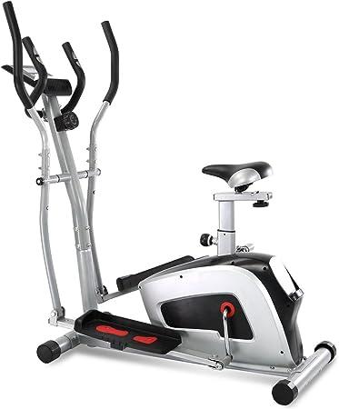XPH magnético vertical bicicleta con pulso híbrida entrenador elíptica bicicleta estática máquina de entrenamiento 2 en 1 entrenamiento total se casa equipo de Fitness con Monitor de frecuencia cardiaca 8 nivel sistema