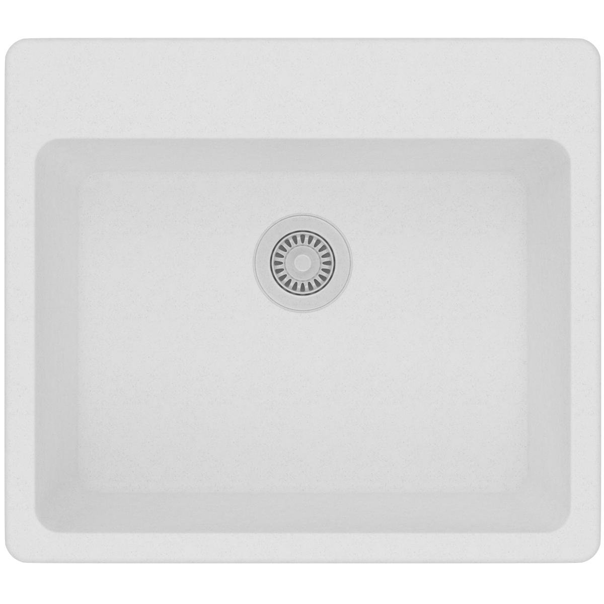 Elkay Quartz Classic ELG2522WH0 White Single Bowl Top Mount Sink