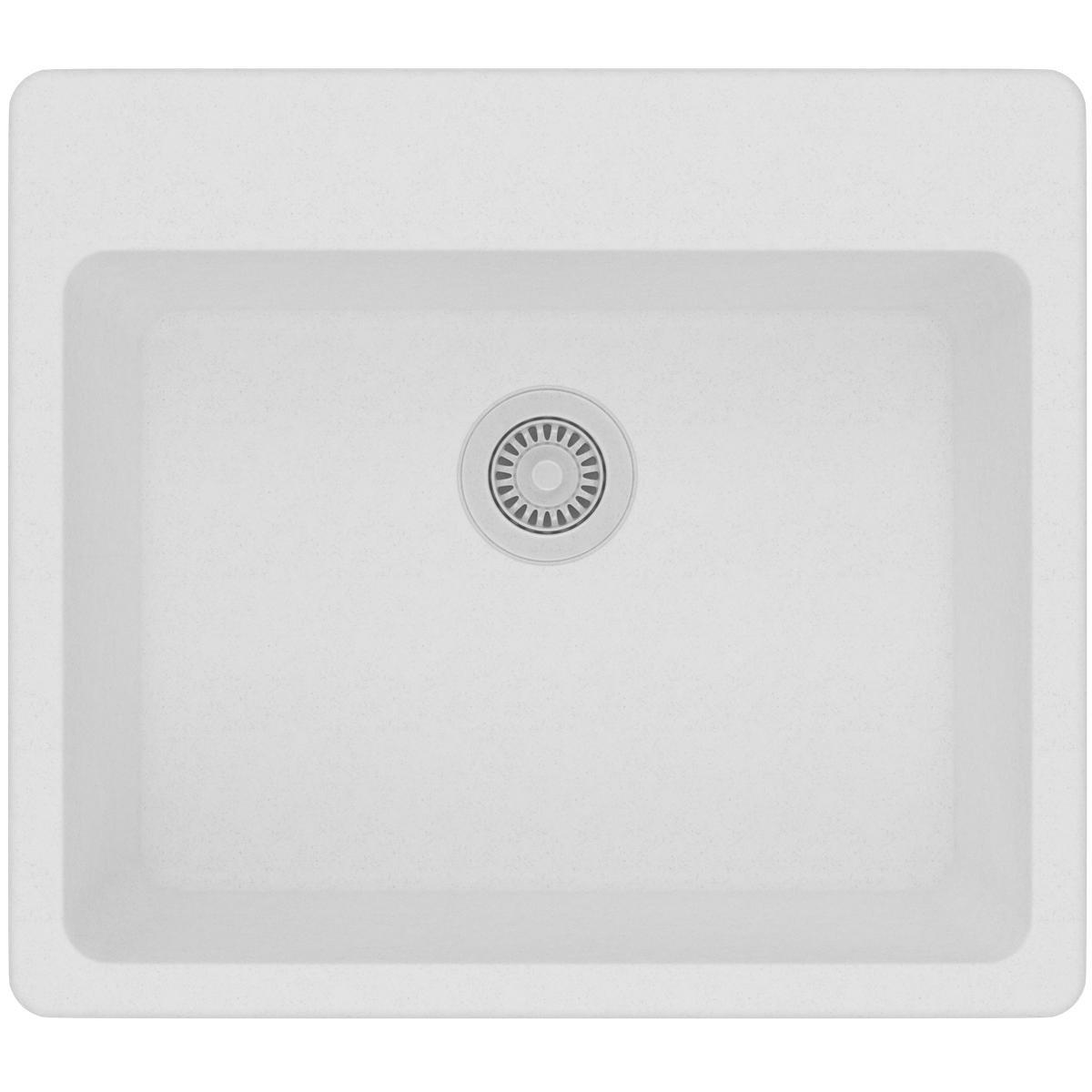 Elkay Quartz Classic ELG2522WH0 White Single Bowl Top Mount Sink