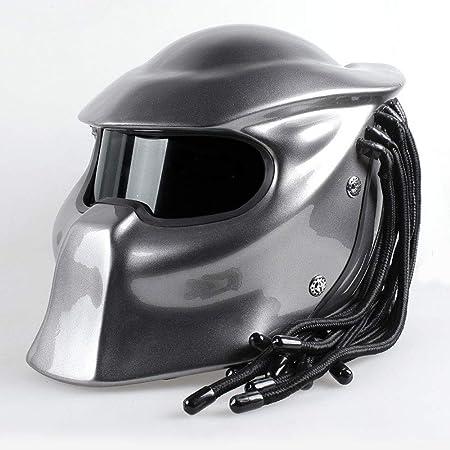 YOUXIU Predator Casco de Fibra de Carbono Casco de Motocicleta ...