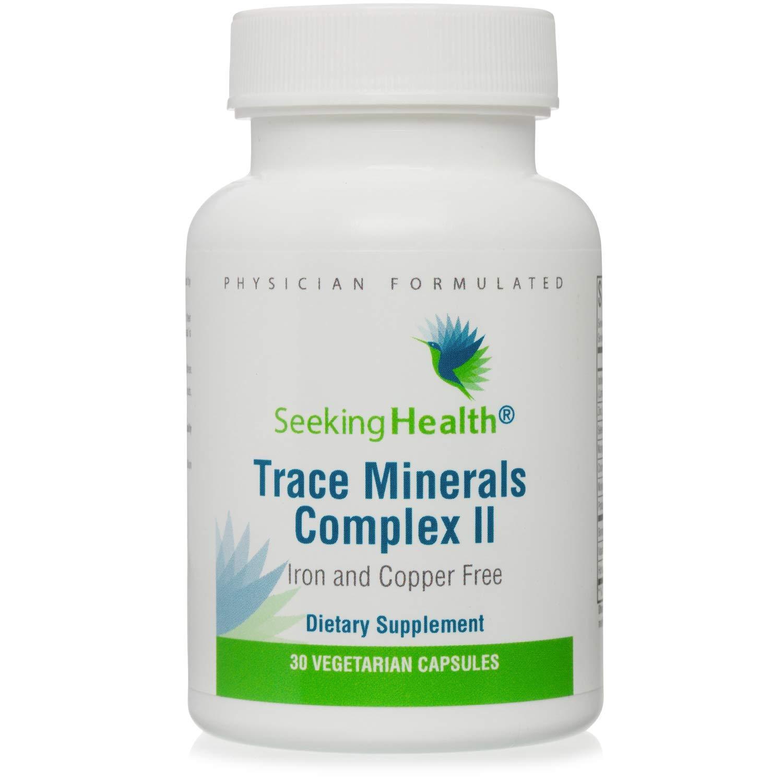 Seeking Health Trace Minerals Complex II, 30 Capsules, Iron and Copper Free, Iodine Supplement, Zinc Supplement, Healthy Energy, Healthy Skin, Hair and Nails*