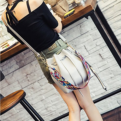 Gray Totes Strap Bucket Light Brown Top Retro Bag Colored Bag Women Handbags Shoulder Messenger Bag 6AqTnBZw