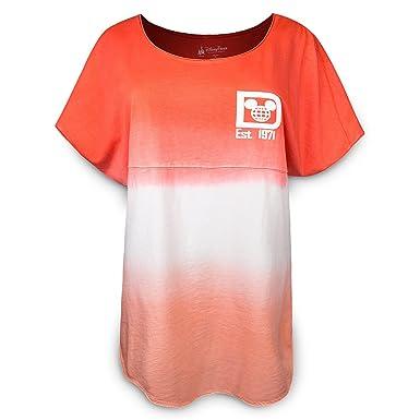 Disney Walt Disney World Spirit Jersey Womens Shirt Ombre Coral