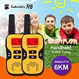 Image of Radioddity R8 Handheld Walkie Talkies For Kids, UHF 462.5625-467.7250MHz FRS/GMRS Two-Way Radio Transceiver For Children, 22 Channels, Max 6KM (3.73miles) Range, Boys & Girls, Yellow, 1 Pair (2 Pcs)