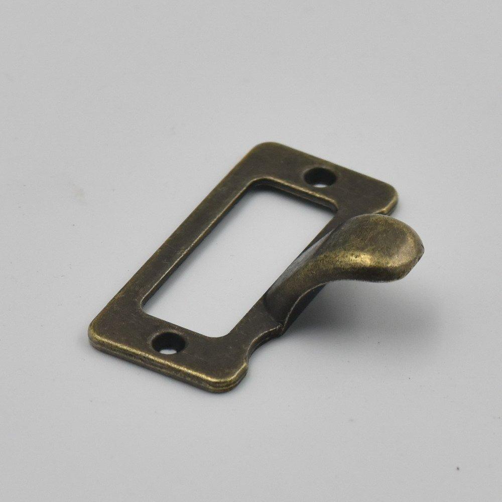 5/10/20/pcs tirador para caj/ón o armario casa marco etiqueta etiqueta para nombre de archivo titular de la tarjeta tornillo C