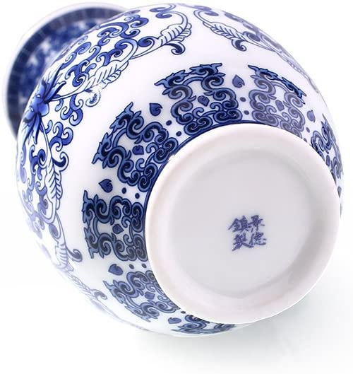 Bolange Jarr/ón de Porcelana Azul y Blanco arreglo Floral Pintura de Flores jarr/ón de cer/ámica Escultura de Moda decoraci/ón de cer/ámica para el hogar C1