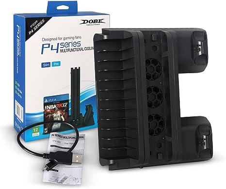 vegec Ventilador PC Portátil -- 5 V Stand vertical USB doble ...