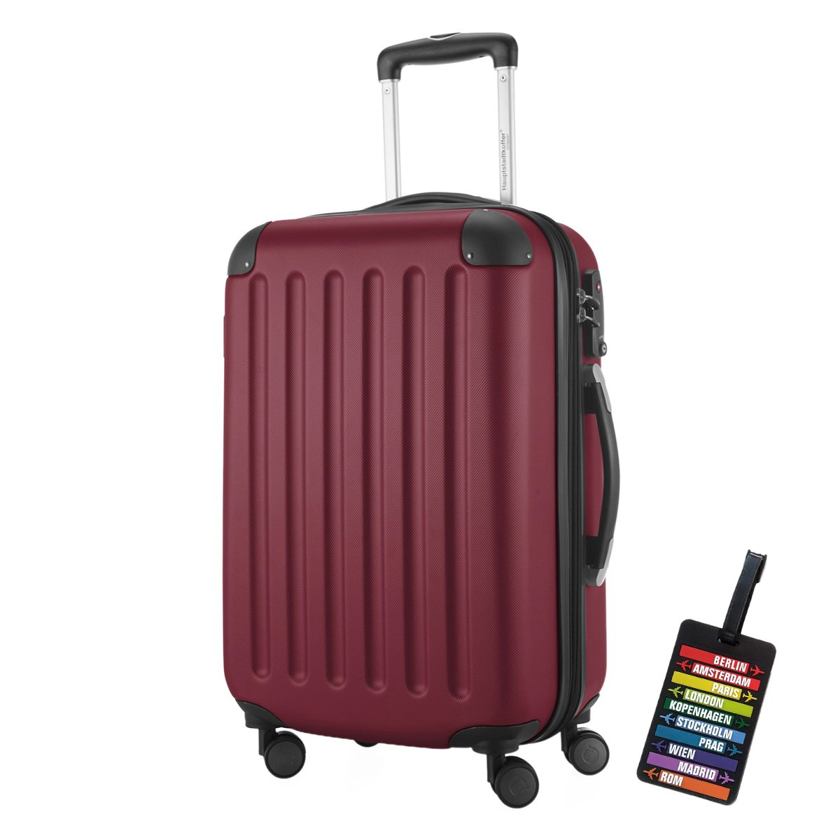 Hauptstadtkoffer Valise Spree 55/20, 55cm, 42 L, Bourgogne, + étiquette de bagage HK1203-BG-49-SALE+KA