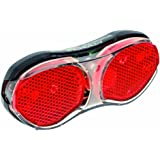 Büchel 50122022 Piccadilly - Luz trasera LED para portaequipajes de bicicleta (11,69 x 5,02 x 1,79 cm), color negro