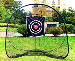 Galileo Golf Net Training Aids Hitting Practice Nets Portable Driving Range Golf Cage for Backyard Indoor Outdoor Netting