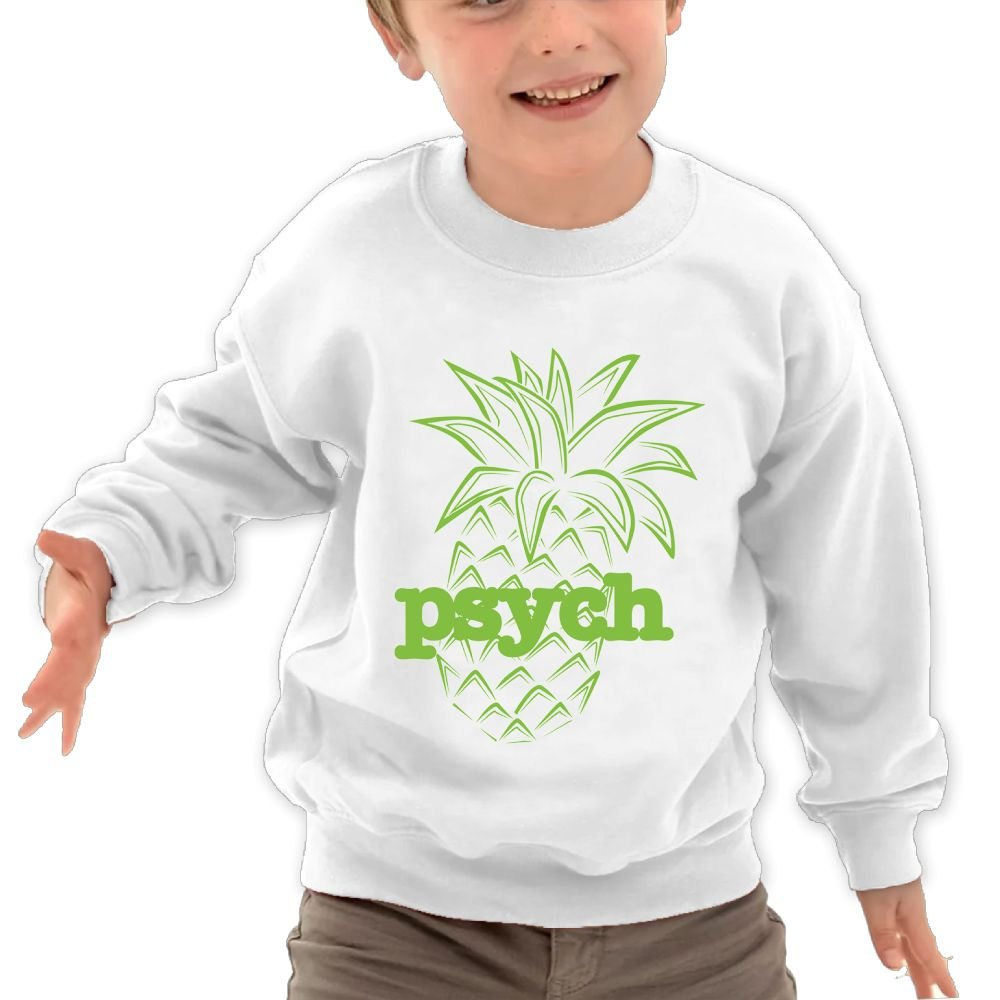 Mkajkkok Psych Pineapple Its Everyday Bro Kids Fashion Round Neck Long Sleeve T-Shirts
