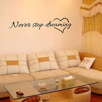 Amazon.com: Wall Stickers,GOODCULLER Never Stop Dreaming Removable ...