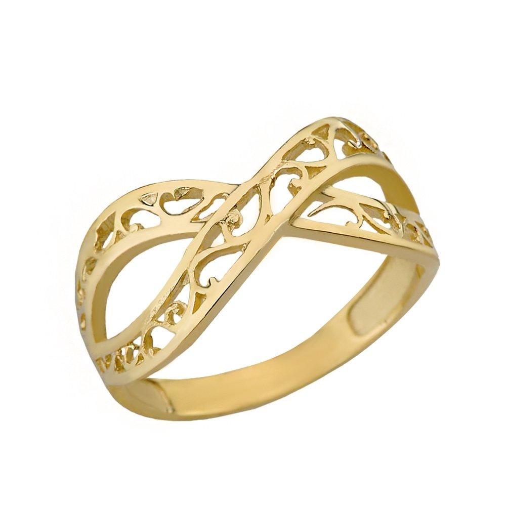 Women's 10k Yellow Gold Forever Filigree Infinity Ring (Size 11.5)