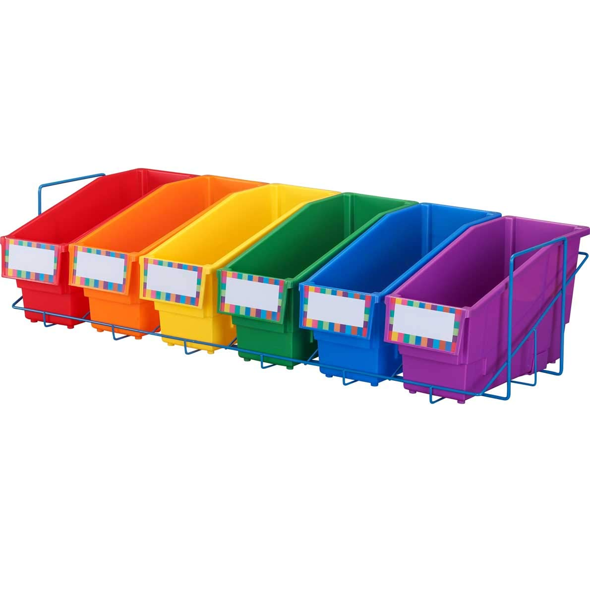 Really Good Stuff Store More Book and Binder Holder with Stabilizer Wing Storage Rack for 6 Bins by Really Good Stuff