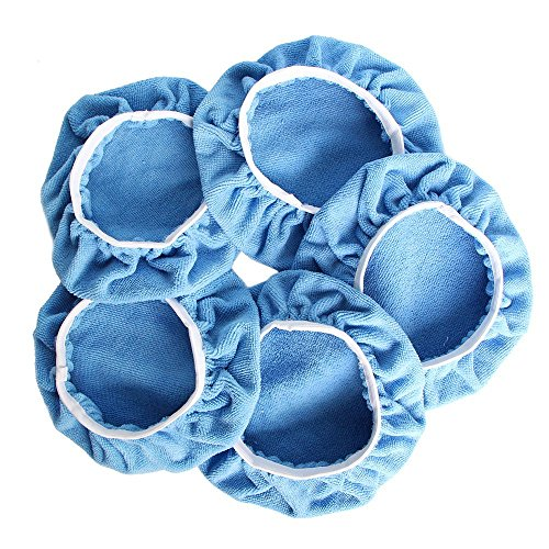 Auto Care Car Polisher Pad Bonnet Polishing Bonnet Buffing Pad Cover For Car Polisher Pack of 5Pcs 5-6 7-8 9-10 (9-10)