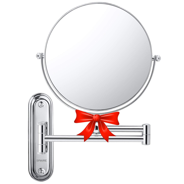 spaire bathroom shaving mirror 7x magnification normal 8 inch rh amazon co uk