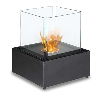 Amazon.com: Ignis Cube XL Tabletop Ventless Ethanol Fireplace ...