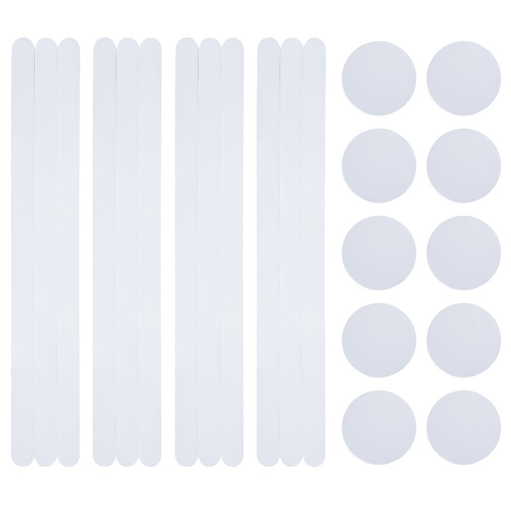 IRICH 10 Pcs Non-Slip Safety Shower Treads with 12 Pcs Anti-Slip Tape Non-Slip Traction for Tubs, Showers, Pools, Boats & more