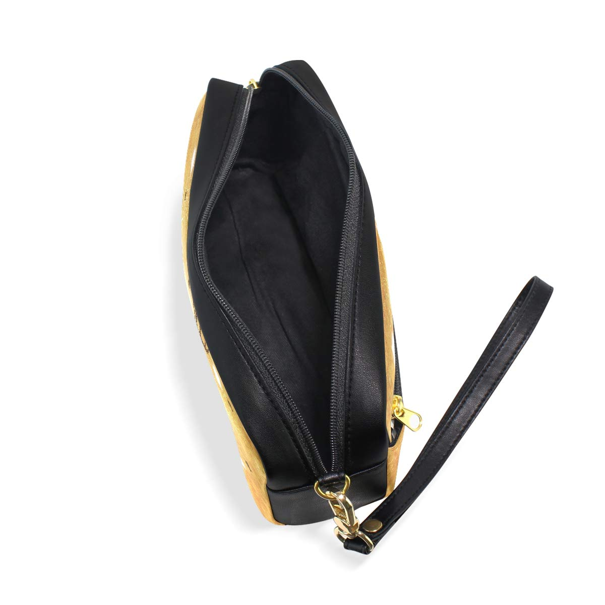 ab10f378402 Amazon.com   Leather Zipper Pencil Pen Cases Holder Happy Elk Student Pouch  Ladies Comestic Bag   Office Products