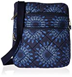 Travelon Women's Anti-theft Boho Slim Bag, Geo Sunflower