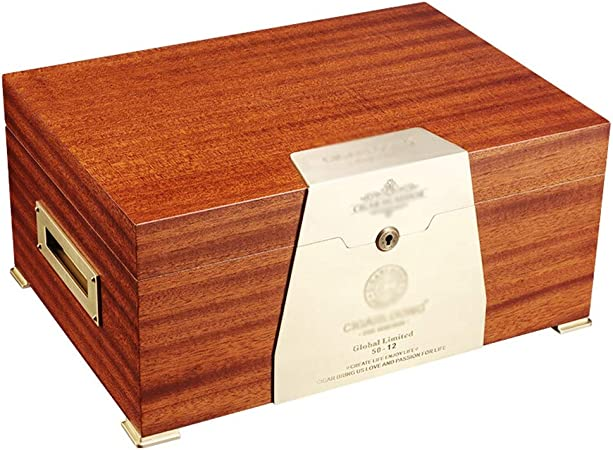 Caja de cigarros, humidificador de cigarros, Madera de Cedro, Doble Capa, humidificador de Gran Capacidad, Caja de cigarros (Color : A): Amazon.es: Hogar