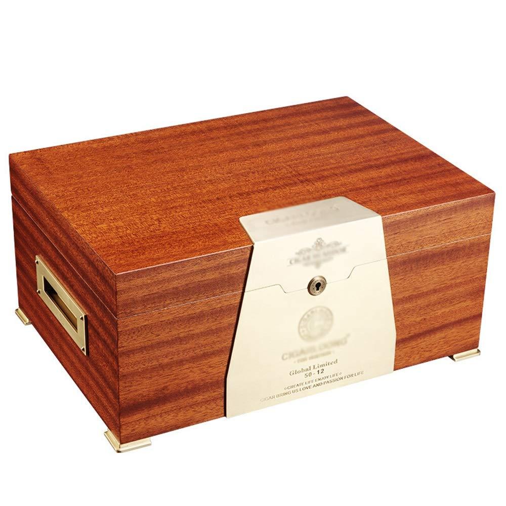 Jia He シガーボックス シガーボックス、シガーヒュミドールシダー木材二層大容量加湿器シガーボックス @@ B07SHRJ5YB