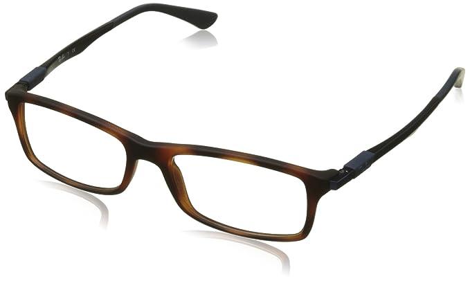 fd94fd46d5 Ray-Ban 0rx 7017 5574 54 Monturas de gafas, Matte Red Havana, 53 para Hombre:  Amazon.es: Ropa y accesorios