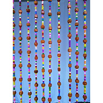 Beautiful wooden beads curtain with 31 strands 90x200 cm