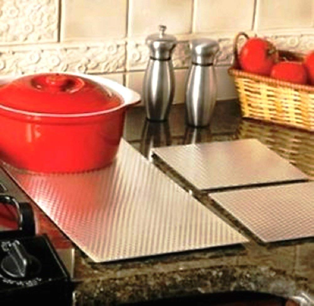 """Insulated Non Skid Kitchen Counter Protection Mat / Liners - Choose Size (7"""" x 7 """" Sq. Set of 2)"""