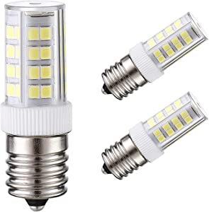 E17 Base Halogen LED Bulb, 40w Equivalent Replacement 6000K Daylight White Kitchen Ware Appliance Light Bulbs for Chandelier Crystal Ceiling Lamp,Pack of 3