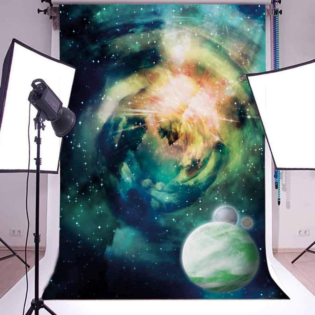 10x15 FT Photography Backdrop Spiral Anromeda Galaxy with Planets Mystical Cosmos Fantasy Image Background for Kid Baby Boy Girl Artistic Portrait Photo Shoot Studio Props Video Drape Vinyl