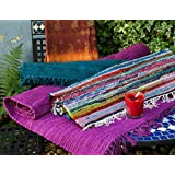 Fair Trade Hand Loomed Multi Coloured Rag Rug 60cm x 90cm by Concession Market®